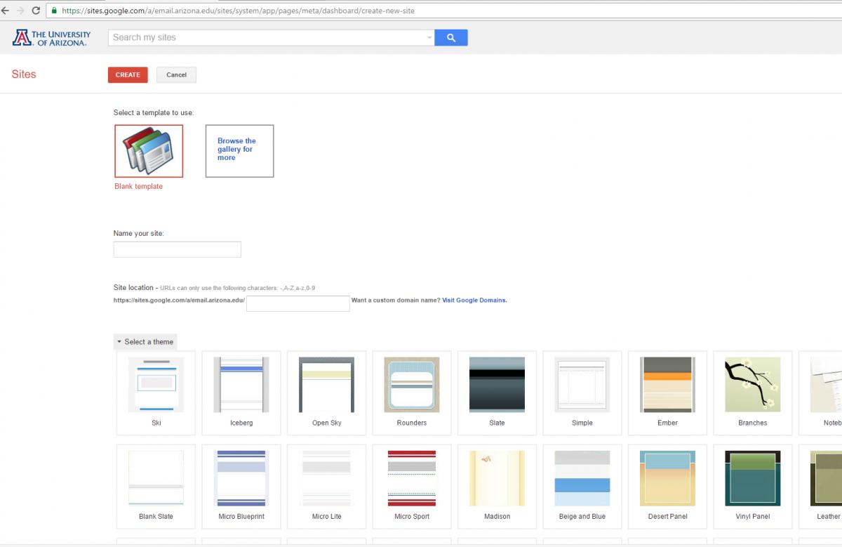 Google Sites Website Creation Computing Services